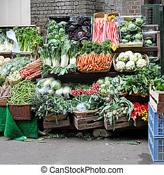 Farmers market - Market stall with varaity of organically ...