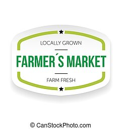 Farmers market vintage sticker