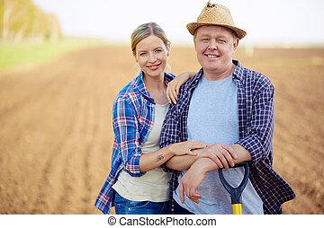 Farmers on the field