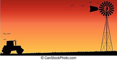 Farmers Sunset