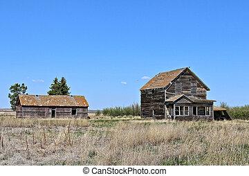 farmhouse, 1-b, abandonado