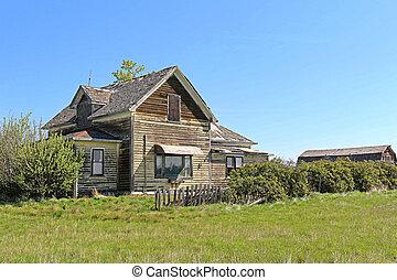 farmhouse, abandonado, 3-a