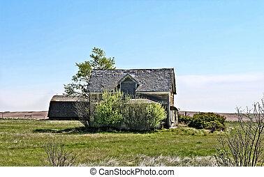 farmhouse, abandonado, 3-b