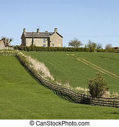 Farmhouse above agricultural land - Yorkshire - United Kingdom