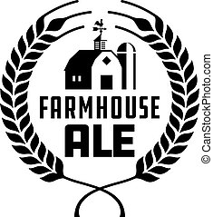 Farmhouse Ale Badge or Label. - Craft beer vector design...