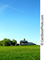 Farmhouse and barn