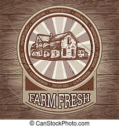 farmhouse, cartaz, vindima