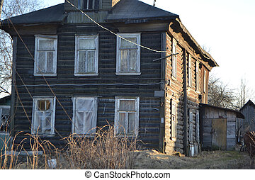 Farmhouse in the village of Ust-Slavyanka, Russia.