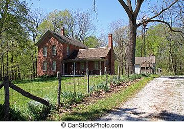 farmhouse, midwest, restaurado