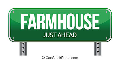 farmhouse road sign