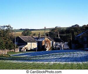 Farmhouses, Ayrton, Yorkshire.