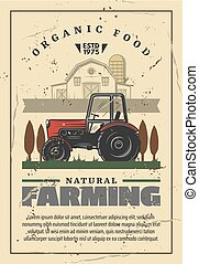 Farming and agriculture retro vector - Agriculture and...