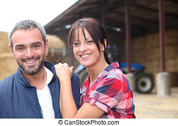Farming couple
