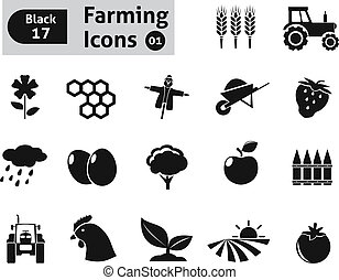 Farming icons. Vector set for you design