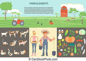 Farming infographic elements