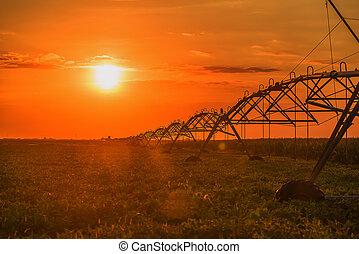 Farming irrigation pivot sprinkler