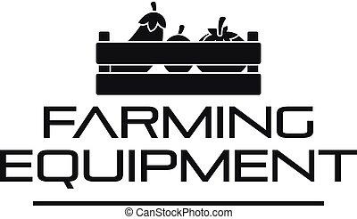 Farming tool logo, simple style