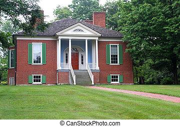 farmington, kolonialny, dom, 2