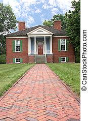 farmington, kolonialny, dom
