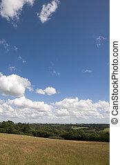 Farmland - A view of farmland in Kent in summer