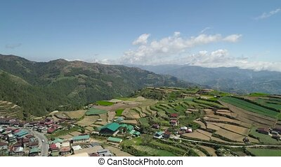 Farmland in a mountain province Philippines, Luzon - Aerial...