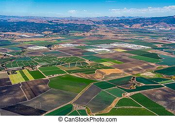 Farmland in Northern California - Pacific coast of ...
