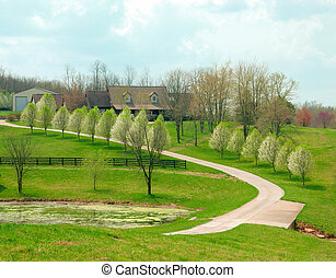 Farmland In Rural Kentucky USA