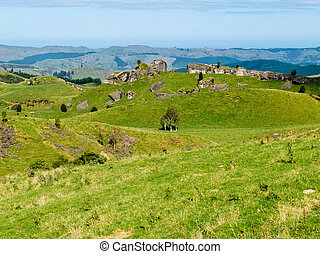 Farmland landscape scene Hawke's Bay New Zealand - Scenic ...