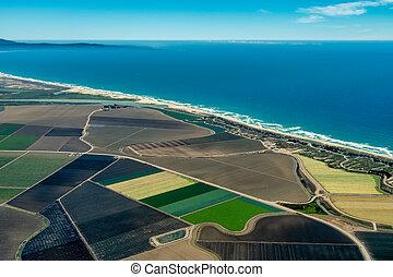 Farmland on Pacific Coast in California