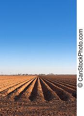 Farmland - Freshly plowed farmland