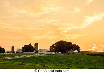 Farmland Sunset in Lancaster County - A beautiful sunset...