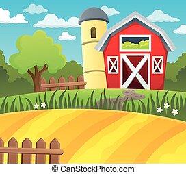 Farmland theme background 1