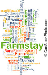 farmstay, achtergrond, concept