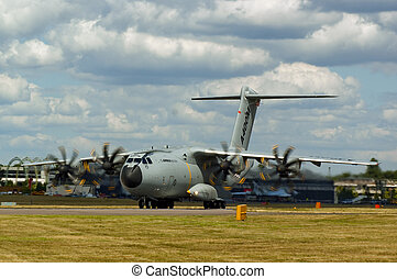 Farnborough Airshow 2010 - A400M Military Transport Aircraft taking off