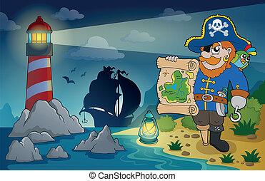 faro, 2, tema, pirata