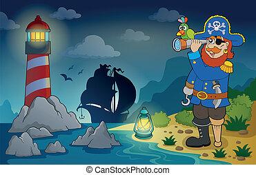 faro, con, pirata, tema, 3