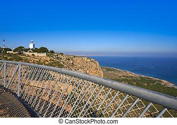 Faro de Santa Pola lighthouse in Alicante at Costa blanca of...