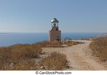 Faro de Sarande signaling light in Albania - Faro de Sarande...