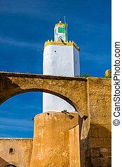 faro, mazagan, -, marruecos, convertido, el-jadida, minarete