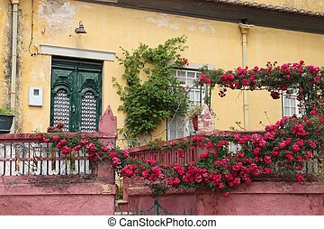 Faro, Portugal - colorful old Portugese architecture with ...
