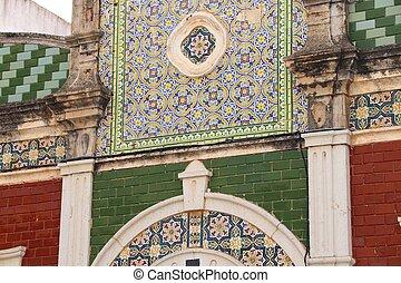 Faro, Portugal - Portugal landmark - Faro Old Town. Colorful...