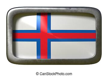 Faroe Islands flag sign