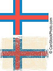 Faroe Islands grunge flag. Vector illustration. Grunge ...