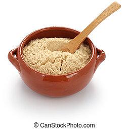 farofa, brazilian food - farofa, toasted cassava flour,...