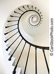 farol, escadas