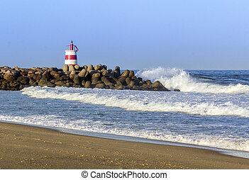 farol, tavira, entrada, ilha, jetty, oceânicos, algarve,...