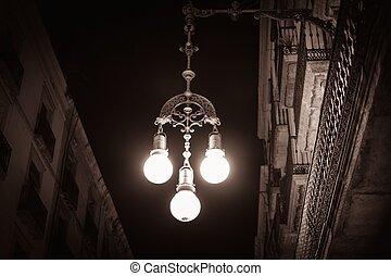 farola, barcelona, calle, españa
