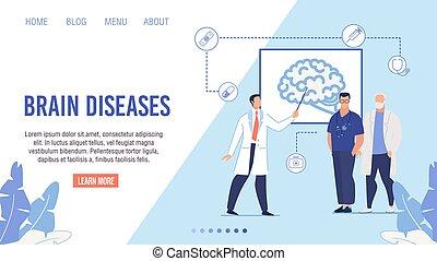 faror, vådor, sida, landstigning, sjukdom, hjärna, medicinsk