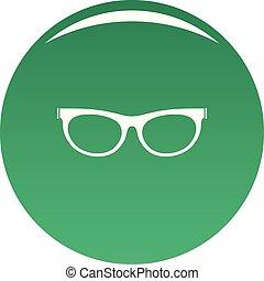 Farsighted eyeglasses icon vector green