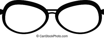 Farsighted glasses icon, simple style.